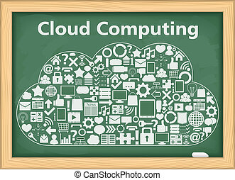 Cloud Computing - Cloud computing concept, vector eps10...