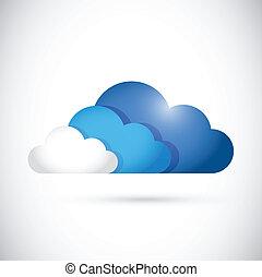 cloud computing colors illustration design