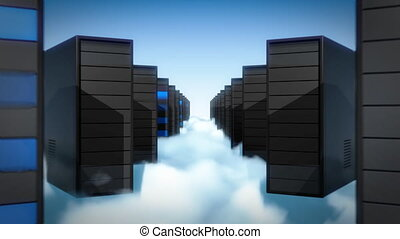 Computers in the clouds.