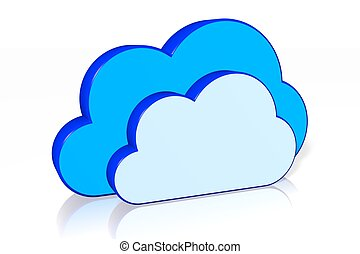 cloud computing concept 3d computer generated computer stock rh canstockphoto co uk Cloud Computing Logo Cloud Computing Diagram
