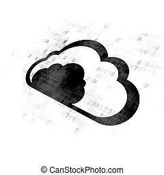 Cloud computing concept: Cloud on Digital background