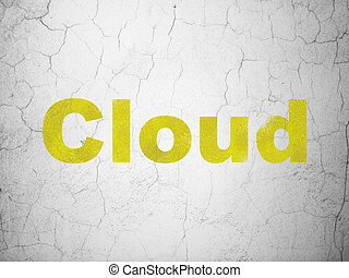 Cloud computing concept: Cloud on wall background