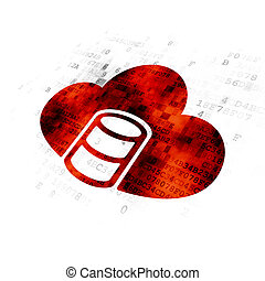 Cloud computing concept: Database With Cloud on Digital background