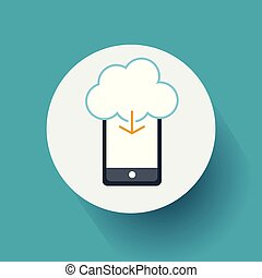 Cloud Computing Concept Icon. Vector, illustration eps10