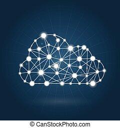 Cloud computing concept - internet