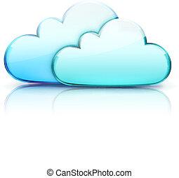 cloud computing concept - Vector illustration of cloud ...