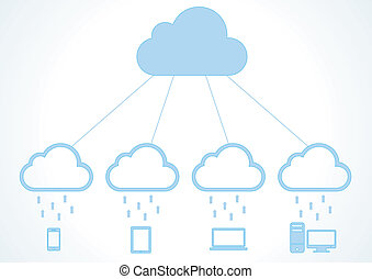 Cloud computing concept. Vector