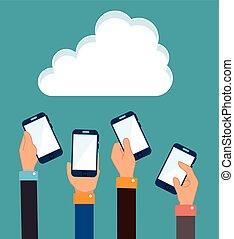 cloud computing data icon