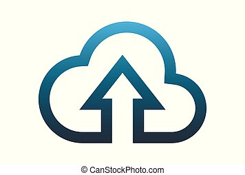 cloud computing data upload logo