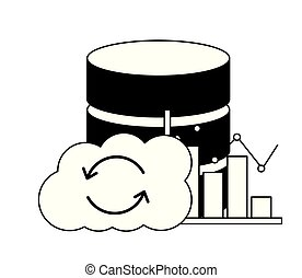 cloud computing database center statistics chart