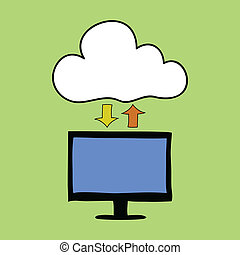 Cloud computing doodle style