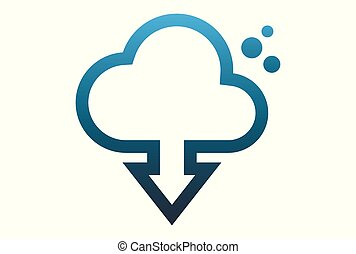 cloud computing download data vector dsign