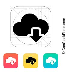 Cloud computing download icon.