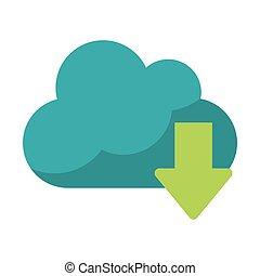 Cloud computing download symbol
