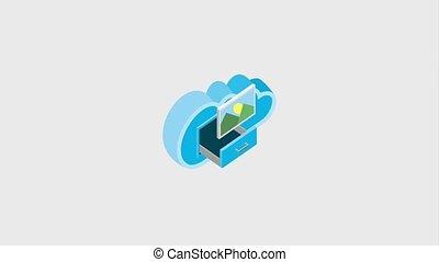 cloud computing drawer settings photo folder storage...