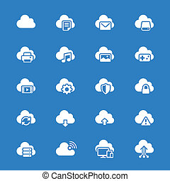 Cloud computing flat icons