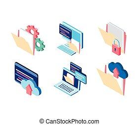 cloud computing folder file laptop website data technology internet