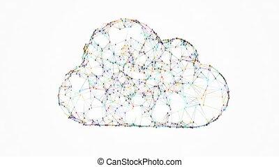 cloud computing, huge connections between points