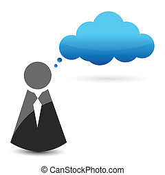 Cloud computing icon illustration