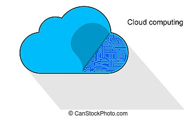 Cloud computing icon opened