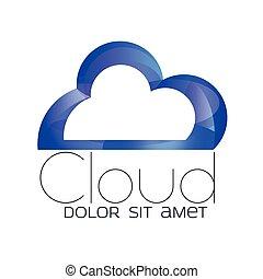 Cloud computing icon. Technology idea.