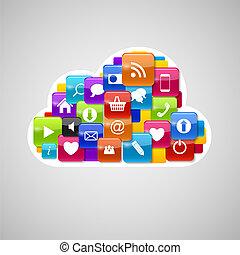 Cloud Computing Icon. Vector Illustration