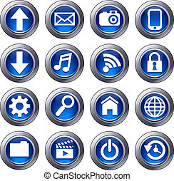 Cloud Computing icons - Virtual cloud icons upload,...