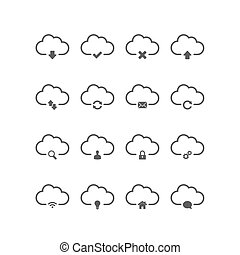 Cloud computing icons