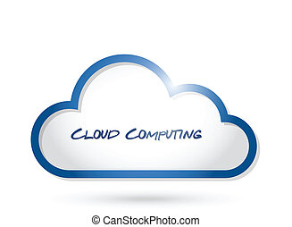 cloud computing illustration design over a white background