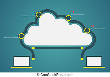 Cloud computing infographic vector illustration. Eps10...