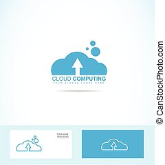 Cloud computing logo icon
