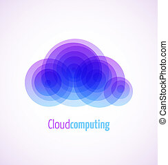 Cloud computing logo template icon. Vector illustration