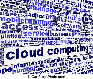 Cloud computing message concept