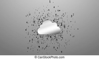 Cloud computing. Numbers around clo