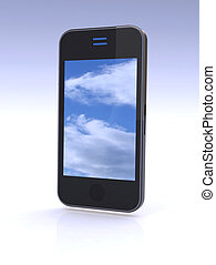 cloud computing on mobile smartphone.