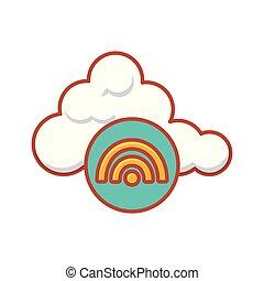 cloud computing server with wifi signal