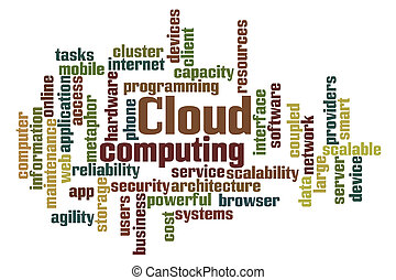 Cloud Computing - Word Cloud Computing on white background