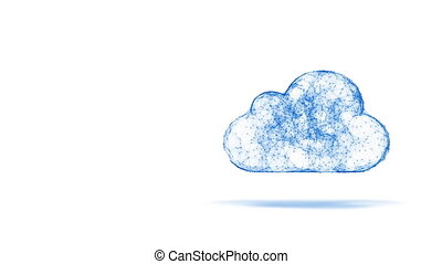 cloud computing symbol - cloud computing, tech animation of...
