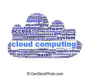 Cloud computing symbol conceptual design