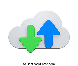 Cloud Computing Symbol Isolated