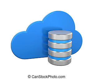 Cloud Computing Symbol with Database Icon
