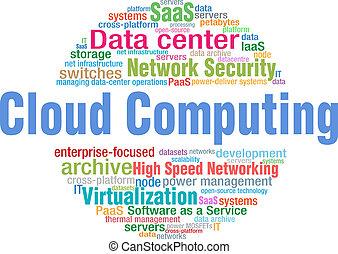 Cloud Computing tech word cloud tags