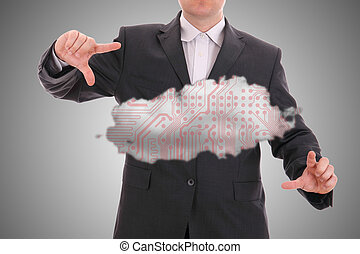Cloud computing, technology concept.