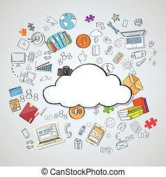 Cloud Computing Technology Device Set Internet Data