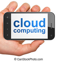Cloud computing technology, networking concept: smartphone...