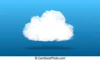 Cloud computing / techology concept - Cloud computing or...