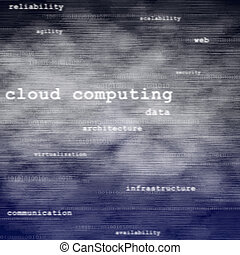 Cloud computing text background