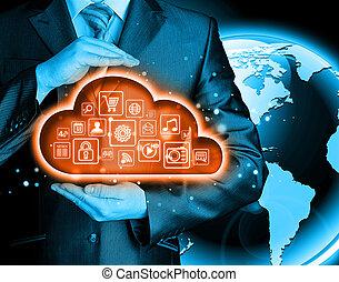 Cloud computing touchscreen interface