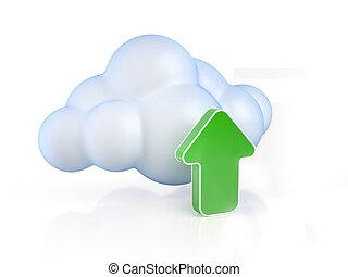 Cloud computing upload 3d concept i