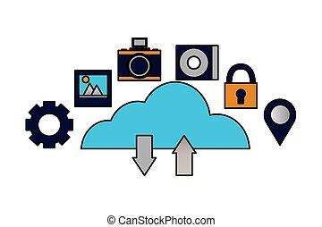 cloud computing upload download data